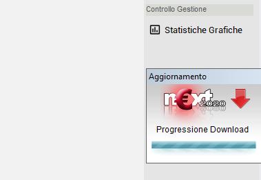 Progressione download aggiornamento Next2020