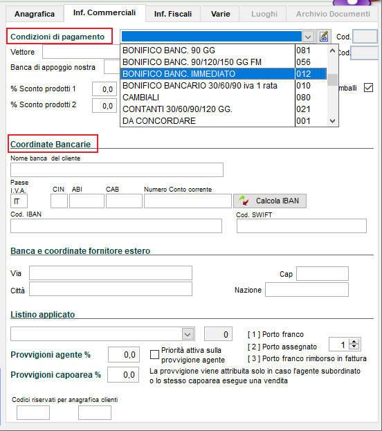Come compilare le informazioni commerciali di un nuovo fornitore in Next2020