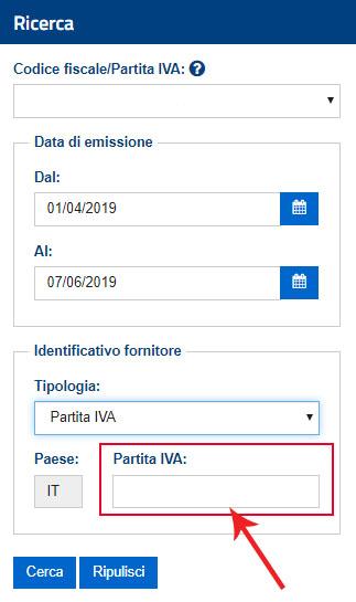 Come effettuare la ricerca di una fattura elettronica dall'identificativo del fornitore nel sito dell'Agenzia delle Entrate